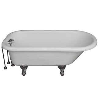 67-inch Tub Kit with Acrylic Roll Top, Tub Filler