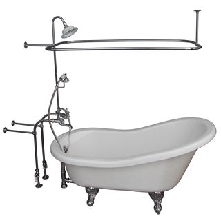 67-inch Tub Kit with Acrylic Slipper, Tub Filler