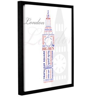 Anna Quach's 'London Typography' Gallery Wrapped Floater-framed Canvas