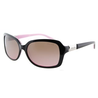 Ralph by Ralph Lauren RA 5130 109214 Black On Pink Stripe Plastic Rectangle Pink Gradient Lens Sunglasses
