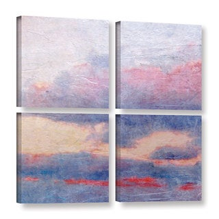 Andrew Sullivan's 'Landscape Study II' 4 Piece Gallery Wrapped Canvas Square Set