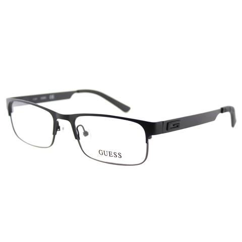 Guess GU 1731 BLKGUN Black Gunmetal Metal Rectangle 53mm Eyeglasses