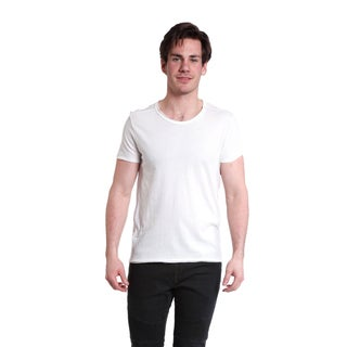 Excelled Men's Raw Edge Crew Neck T-Shirt