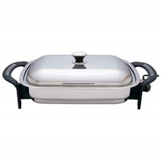Precise Heat T304 Stainless Steel 16 Inch Rectangular Electric Skillet|https://ak1.ostkcdn.com/images/products/11673001/P18601025.jpg?impolicy=medium