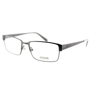Guess GU 1821 GUN Gunmetal Metal Rectangle 55mm Eyeglasses