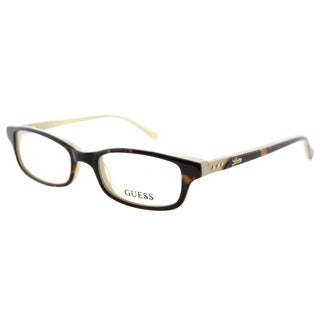 Guess GU 2292 052 Havana Plastic Cat-Eye 48mm Eyeglasses