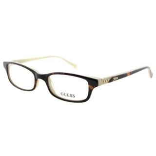 Guess GU 2292 052 Havana Plastic Cat-Eye 48mm Eyeglasses