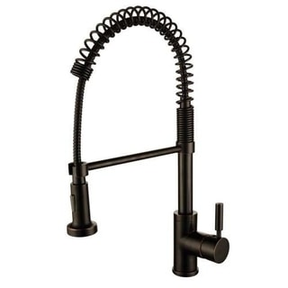 Foreman Single Handle Pull Out Kitchen Faucet with Pull Out Sprayer Bronze Finish
