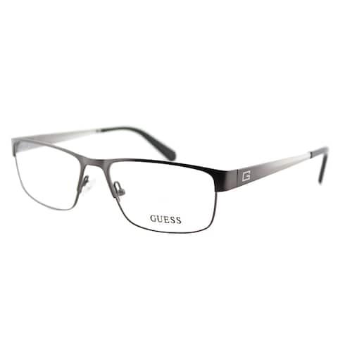 Guess GU 1770 GUN Gunmetal Metal Rectangle 54mm Eyeglasses
