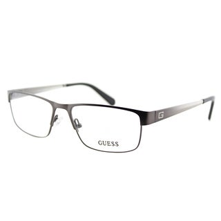 Guess GU 1770 GUN Gunmetal Metal Rectangle 54mm Eyeglasses