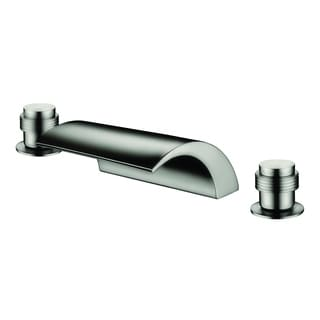 ydecor weldon brushed nickel widespread tub faucet