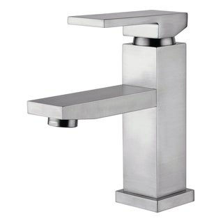 Dana Brushed Nickel Finish Single Handle Bathroom Faucet