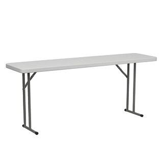 Offex DAD-YCZ-180-GW-GG 18 in. W x 72 in. L Granite White Plastic Folding Training Table