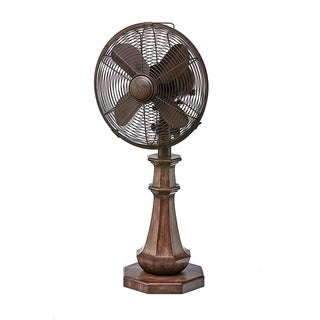 Coronado Neutral Wood Finish Table Fan
