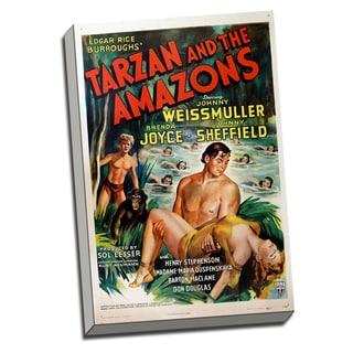 Tarzan Movie Poster Retro Art Printed on Ready to Hang Framed Canvas