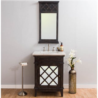 Somette Bellingham Marble Vanity and Mirror