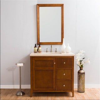 Somette Milano Marble Vanity and Mirror