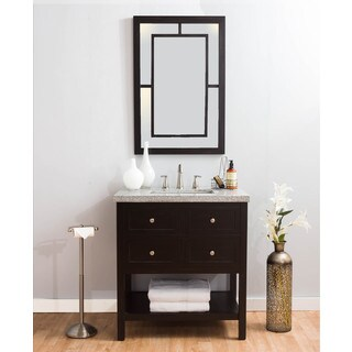 Somette Regents Marble Vanity and Mirror