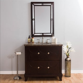 Somette Richmond Marble Vanity and Mirror