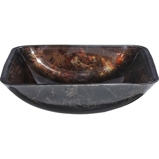 Y-Decor 'La Caleche' Deep Bronze Tempered Glass Vessel Sink