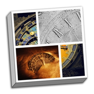 Epoch Time Piece Collage Clock Printed on Ready to Hang Framed Canvas