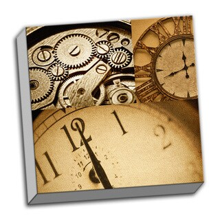 Duration Time Piece Collage Clock Printed on Ready to Hang Framed Canvas