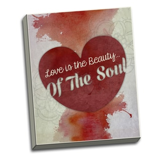 Soul Beauty- 16 X 20 Inspirational Quotes Printed on Ready to Hang Framed Canvas