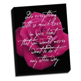 Rose Pink 16 X 20 Inspirational Quotes Printed on Ready to Hang Framed Canvas