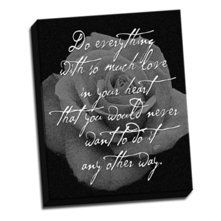 Rose Black 16 X 20 Inspirational Quotes Printed on Ready to Hang Framed Canvas