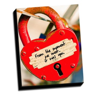 Red Lock 16 X 20 Inspirational Quotes Printed on Ready to Hang Framed Canvas