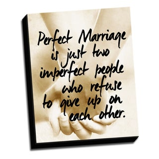 Perfect Hands 16 X 20 Quotes Printed on Ready to Hang Framed Canvas