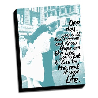 Kissblue -16 X 20 Inspirational Quotes Printed on Ready to Hang Framed Canvas