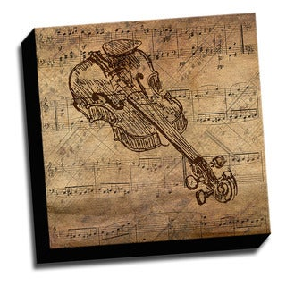 Violin and Sheet Music Canvas Printed on Stretched Framed Ready to Hang Canvas