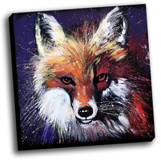 Red Fox Colorful Art Printed on Stretched Framed Ready to Hang Canvas