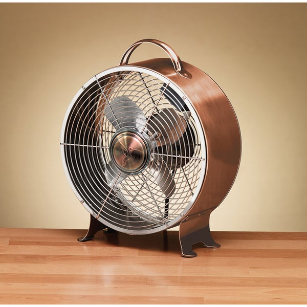 Shop Copper Finish Retro Metal Fan Free Shipping Today
