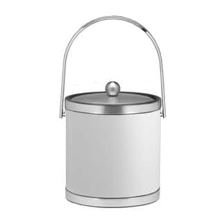 Kraftware Sophisticates with Brushed Chrome 3-quart Ice Bucket with Track Handle and Metal Cover