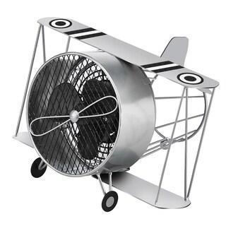 Silver Biplane Figurine Fan