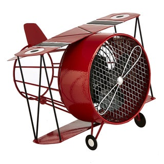 Red Biplane Figurine Fan