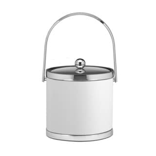 Sophisticates with Polished Chrome 3-quart Ice Bucket with Track Handle and Metal Cover