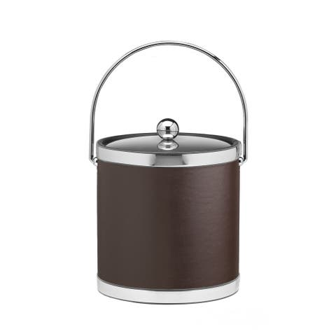 Kraftware Sophisticates with Polished Chrome 3-quart Ice Bucket with Bale Handle and Metal Cover