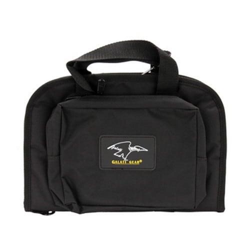 Galati Gear Small Pistol Case w/ Two Exterior Pockets, Black