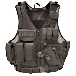Galati Gear Black Deluxe Tactical Vest, Standard
