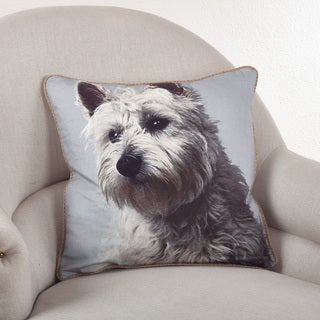 Westie Themed Down Filled Throw Pillow