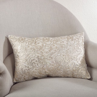 Lace Design Down Filled Throw Pillow