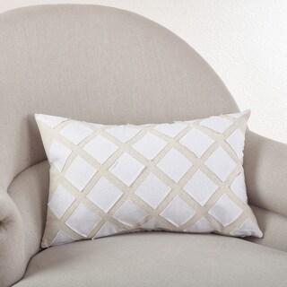 Applique Design Down Filled Throw Pillow