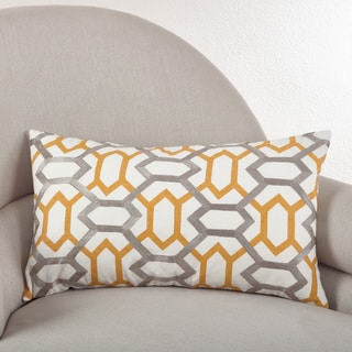 Stitched Design Down Filled Throw Pillow