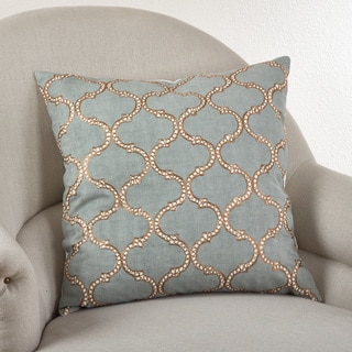 Lattice Design Down Filled Throw Pillow