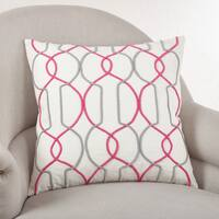 Corded Trellis Embroidered Down Filled Throw Pillow