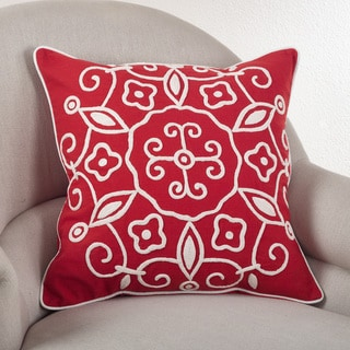 Embroidered Suzani 20-inch Down Filled Throw Pillow