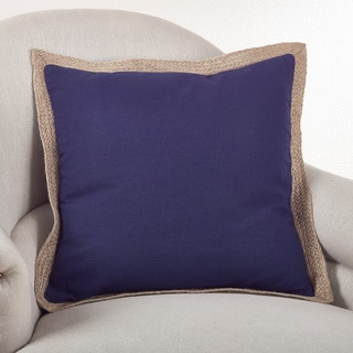 Classic Jute Trim 20-inch Down Filled Throw Pillow